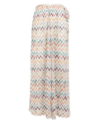 Knit Chevron Wave Culottes, WHITE/RAINBOW, hi-res