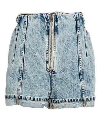Powelly Cuffed Denim Shorts, ACID WASH DENIM, hi-res