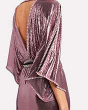 Crystal-Embellished Chainmail Gown, PINK, hi-res