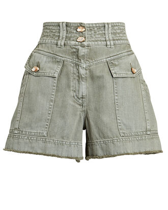 Darcel Cargo Denim Shorts, OLIVE, hi-res