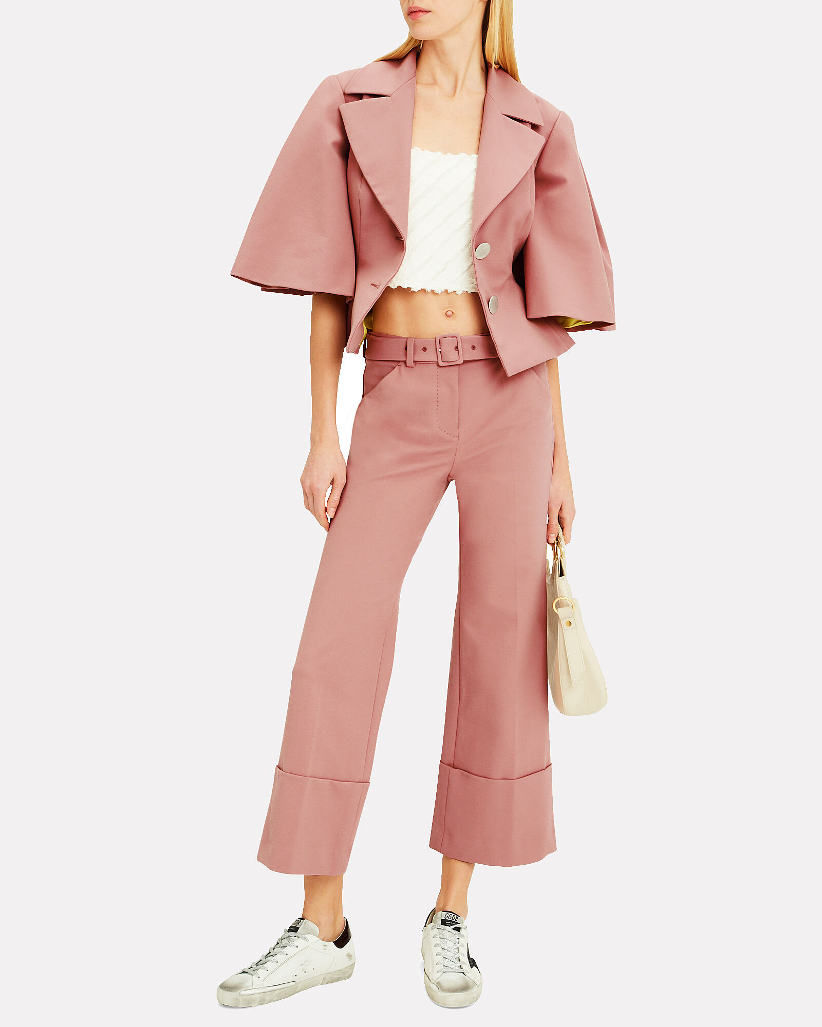 Rose Cape Blazer, BLUSH, hi-res