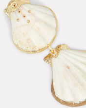 Tiered Shell Earrings, IVORY/BRONZE, hi-res
