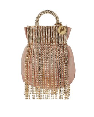 Follie Crystal Fringe Pouch Bag, BLUSH, hi-res