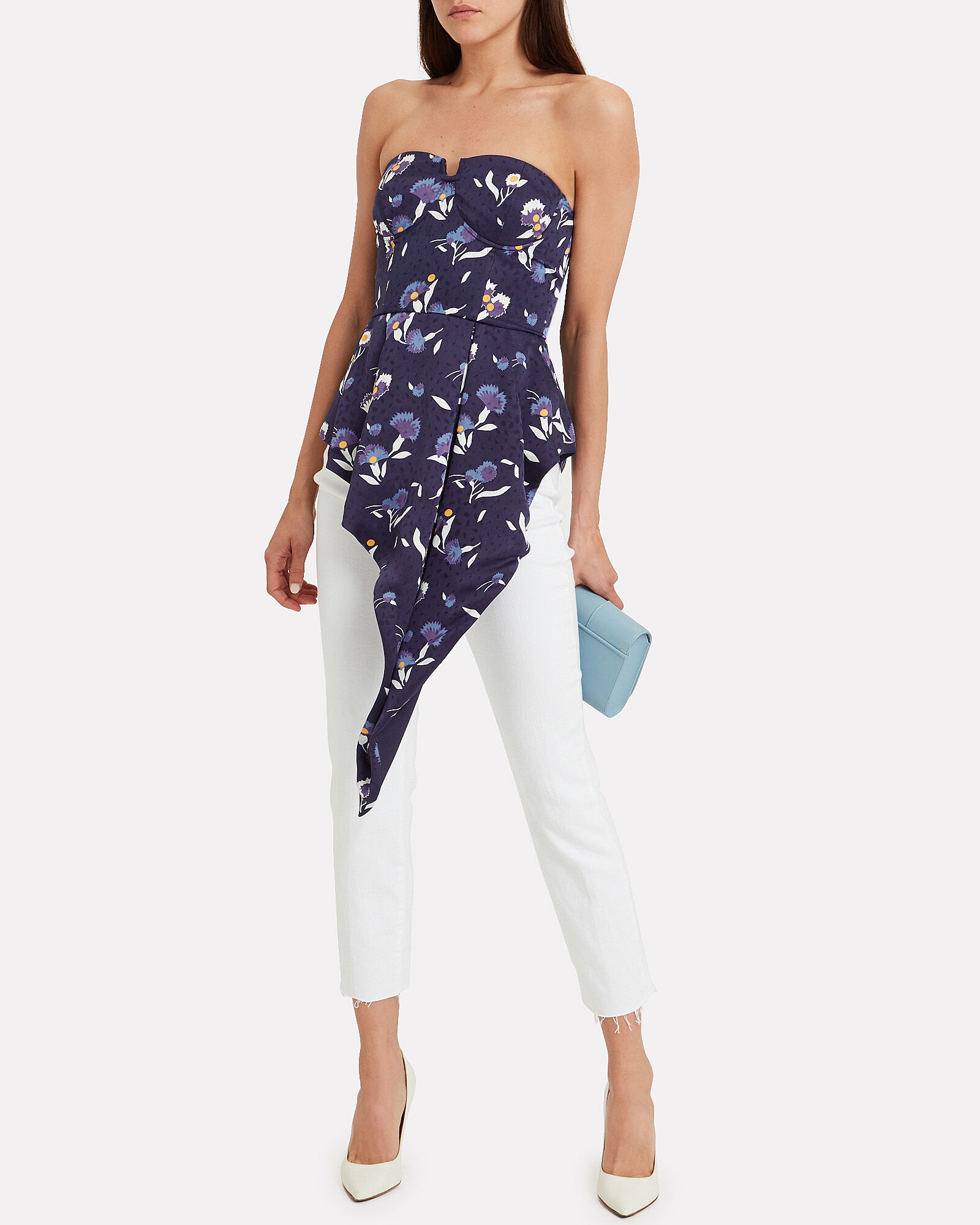 Strapless Printed Bustier Top - White House Black Market |Printed Bustier Top