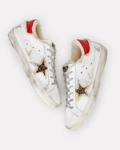 Superstar Shearling Leopard Low-Top Sneakers, WHITE, hi-res