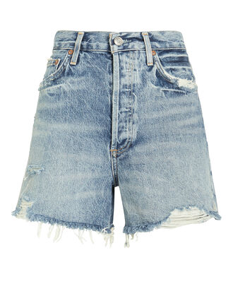 Dee Fray Denim Shorts, STONEWASHED BLUE, hi-res