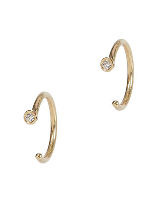 Diamond Dust Hoops, GOLD, hi-res