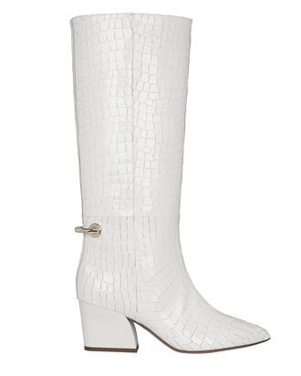 Rowan Calf-High Leather Boots, WHITE, hi-res