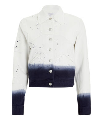 Lex Dip-Dye Denim Jacket, WHITE/NAVY DENIM, hi-res