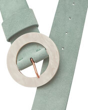 Louise Suede Belt, BLUE-LT, hi-res