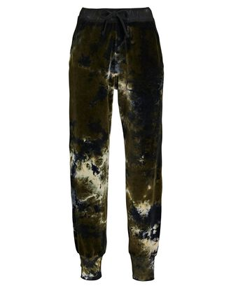 Avery Velour Joggers, BLACK/GREEN, hi-res