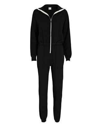 Mojave Terry Jumpsuit, BLACK, hi-res