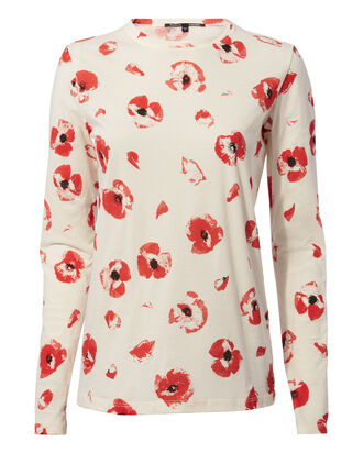Poppy Floral Tissue Tee, MULTI, hi-res