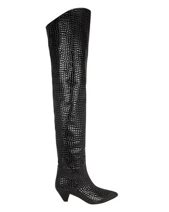 Asia Over-The-Knee Boots, BLACK, hi-res