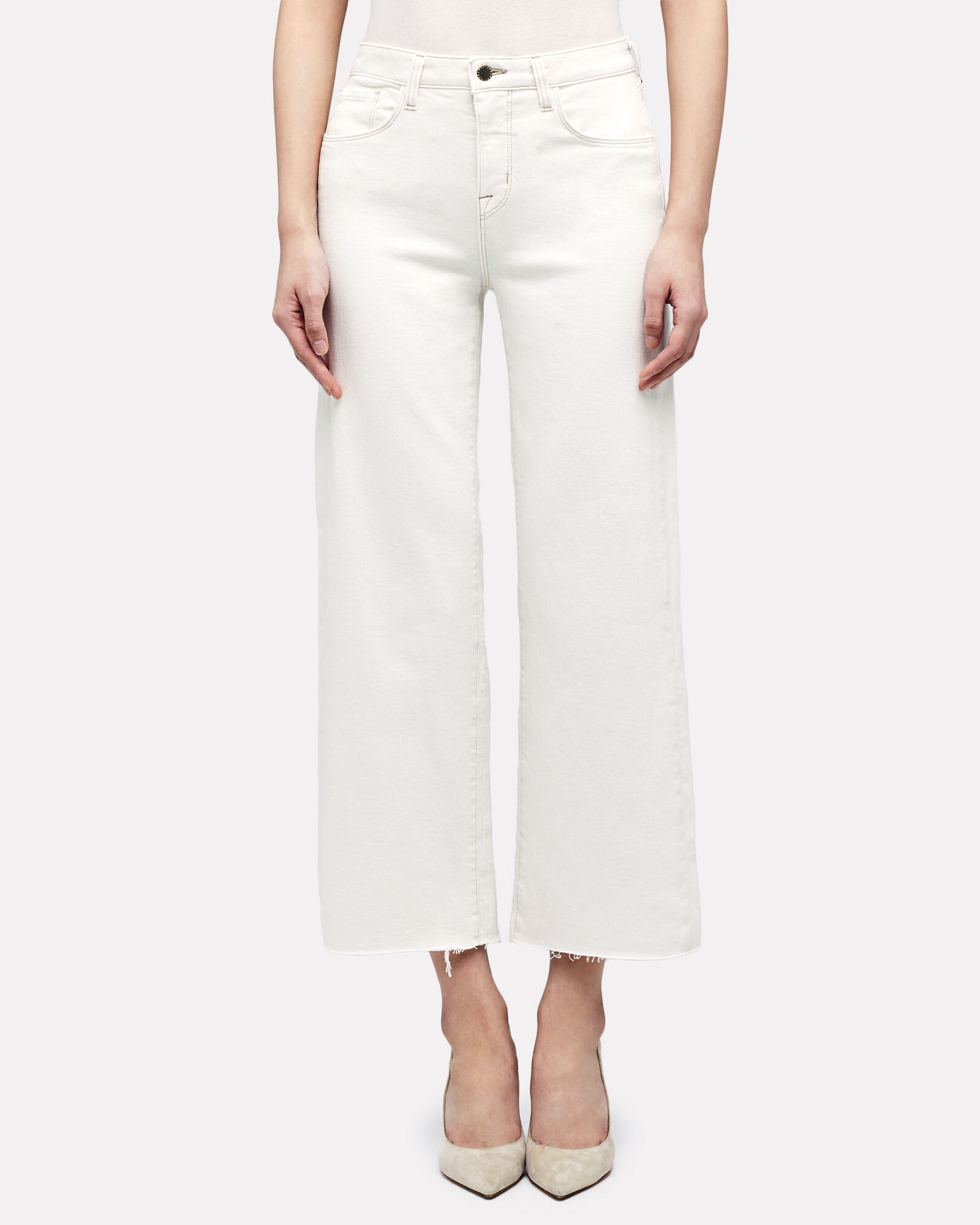 Danica High-Rise Wide-Leg Jeans, WHITE, hi-res