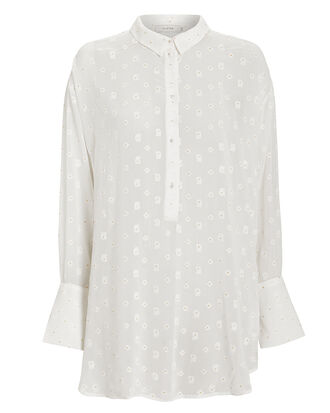 Affair Sheer Blouse, WHITE, hi-res