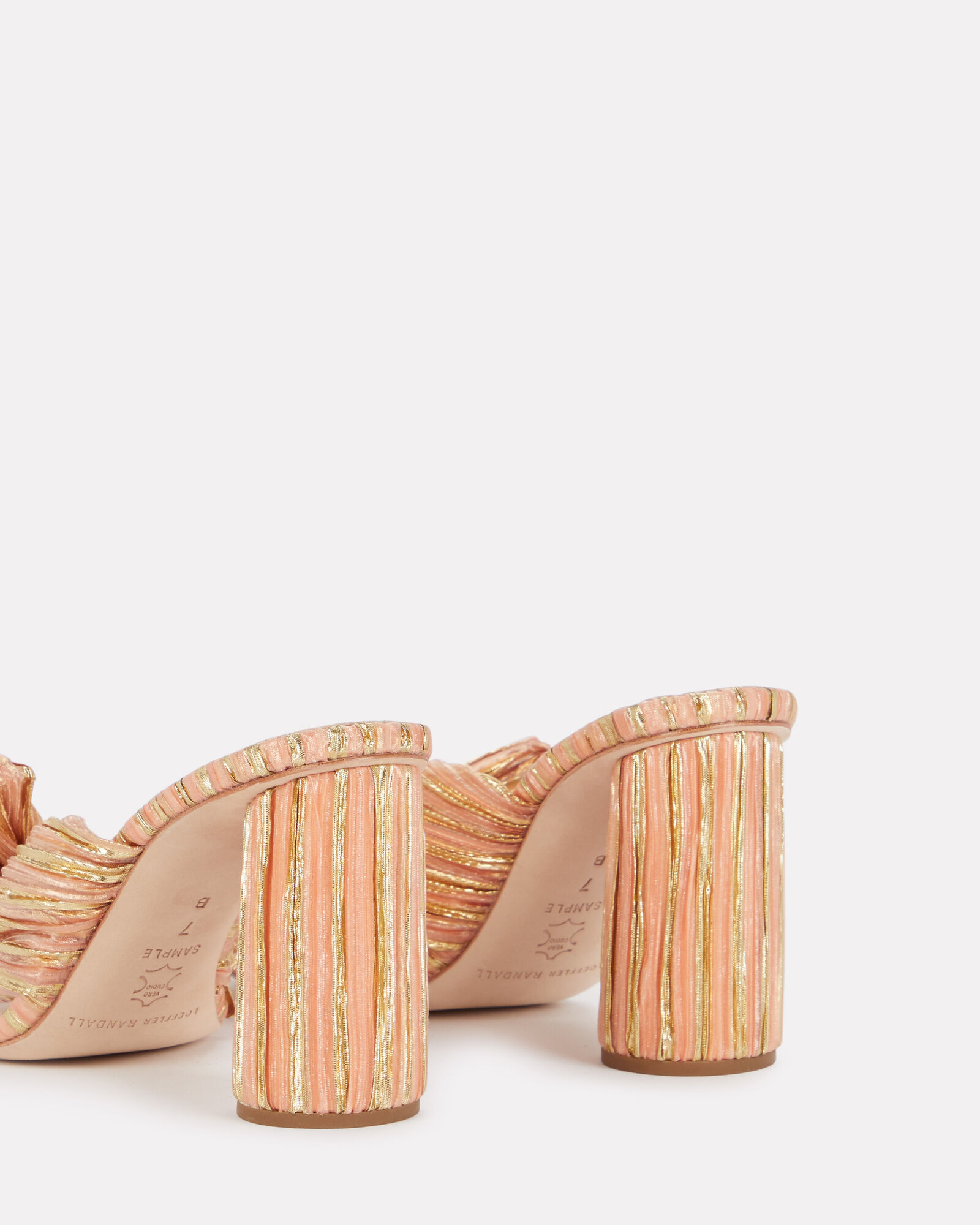 Penny Knotted Metallic Slide Sandals, MULTI, hi-res