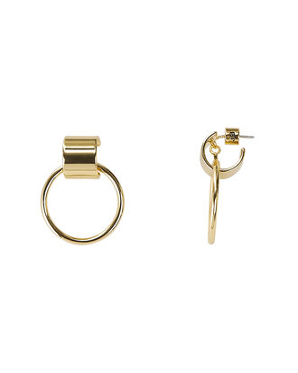 Faye Knocker Earrings, GOLD, hi-res