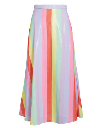 Penelope Rainbow Sequin Striped Skirt, RAINBOW/STRIPES, hi-res