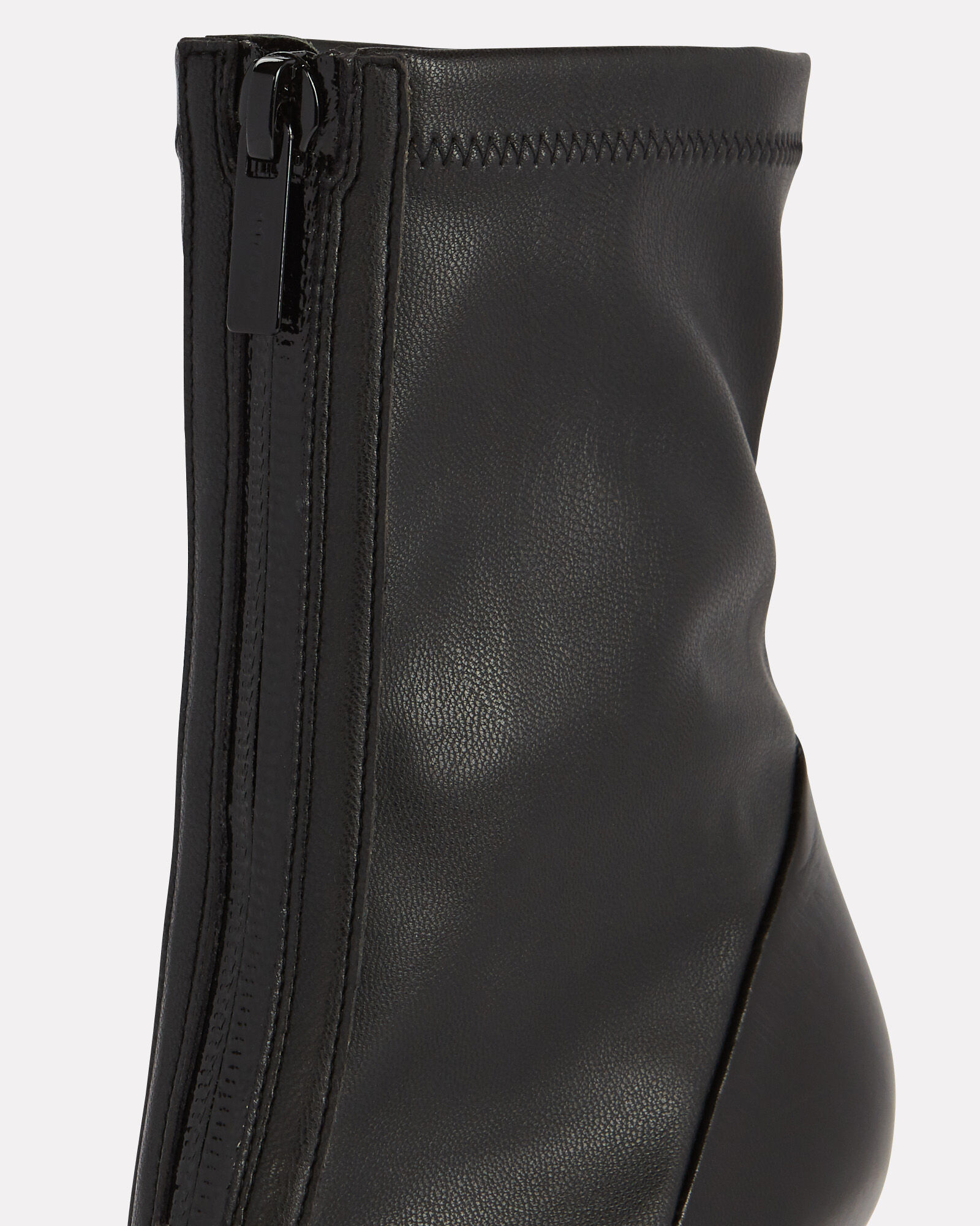 Brax Leather Zip Booties, BLACK, hi-res