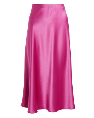 Zarina Satin Slip Mini Skirt, BERRY, hi-res