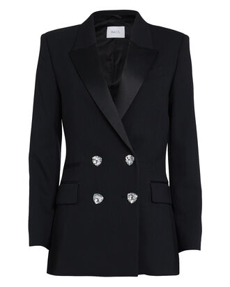 Felix Double-Breasted Virgin Wool Blazer, BLACK, hi-res