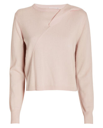 Lawson Twist Front Sweater, PALE PINK, hi-res