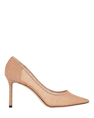 Romy 85 Lace Pumps, BLUSH, hi-res