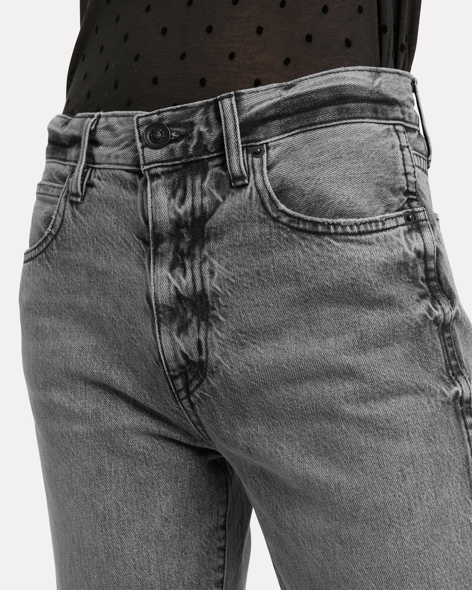 Hero Cropped Jeans, GREY, hi-res
