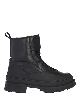 Leather-Trimmed Hiking Boots, BLACK, hi-res
