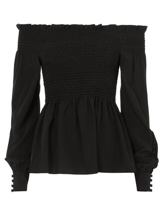 Phoenix Off Shoulder Top, BLACK, hi-res