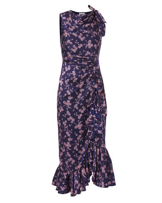 Nanon Printed Dress, PURPLE, hi-res