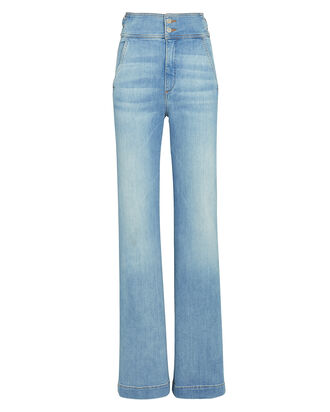 Vira High-Rise Wide-Leg Jeans, Pale Stone, hi-res