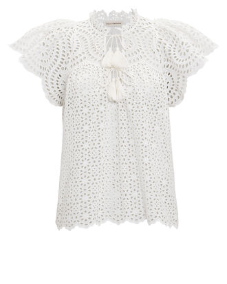 Dolly Top, WHITE, hi-res
