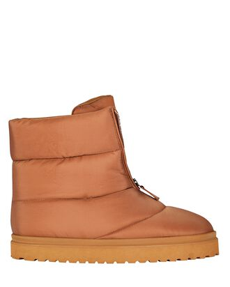 Luna Padded Puffer Ankle Boots, BROWN, hi-res