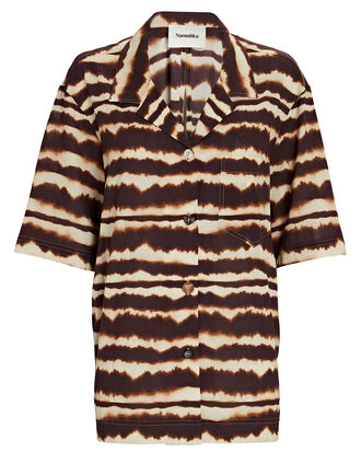Soho Tie-Dye Short Sleeve Shirt, BROWN/BEIGE, hi-res