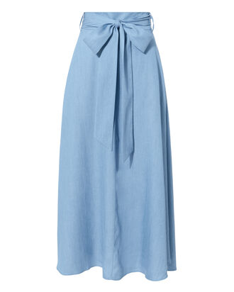 Denim Midi Skirt, DENIM-LT, hi-res