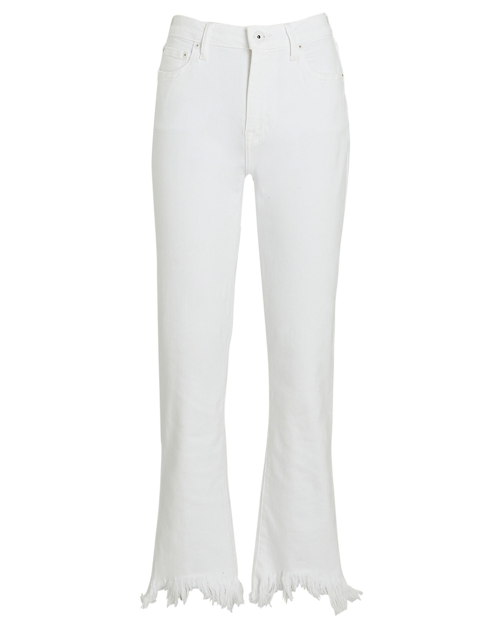 River Frayed High-Rise Jeans, WHITE, hi-res