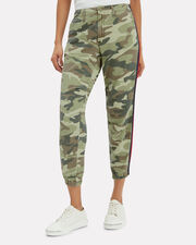 No Zip Misfit Camo Pants, CAMO/RED/NAVY, hi-res