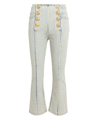 Stripe Cropped Flare Jeans, BLUE/WHITE, hi-res