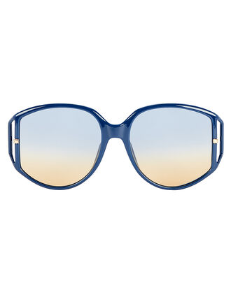 DiorDirection2 Round Sunglasses, DARK BLUE/GOLD, hi-res