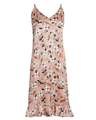 Dessert Floral Slip Dress, BEIGE, hi-res