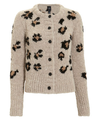 Leopard Chunky Cardigan, MULTI, hi-res