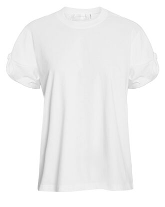Knot Sleeve T-Shirt, WHITE, hi-res