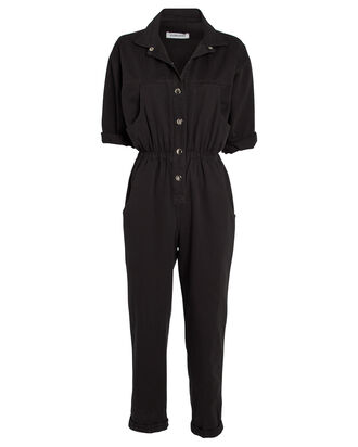 Hope Cotton Twill Jumpsuit, BLACK, hi-res