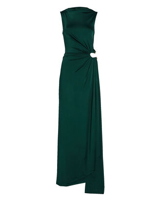 Horse Shoe Jersey Gown, GREEN, hi-res