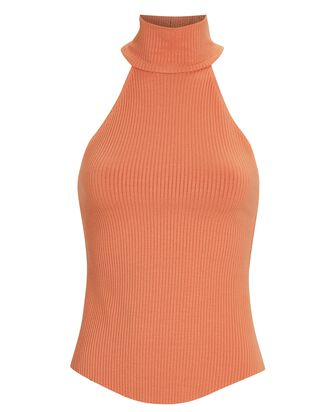 Alloy Sleeveless Turtleneck Top, ORANGE, hi-res