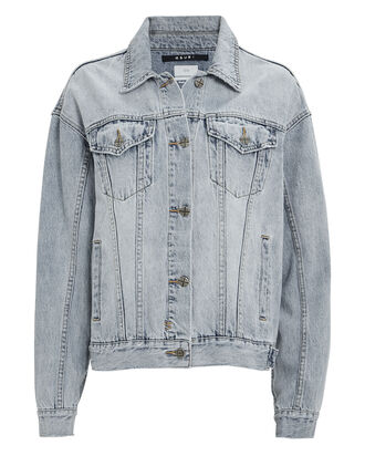 Slash Oversized Denim Jacket, LIGHT WASH DENIM, hi-res