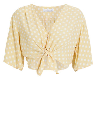 Boulevards Polka Dot Top, IVORY/YELLOW POLKA DOTS, hi-res