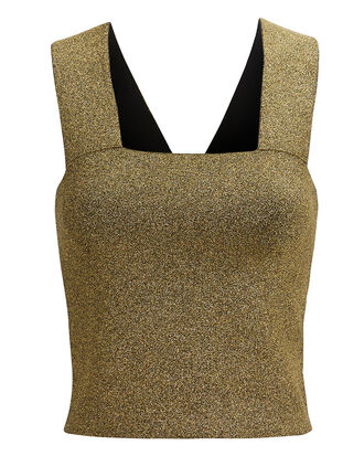 Lia Gold Metallic Top, GOLD, hi-res